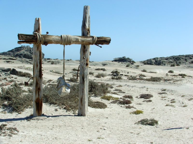 Crosses in the desert