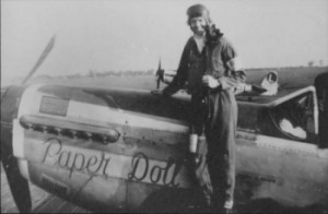 Jim Herbert, Sr. in front of his WWII P-51