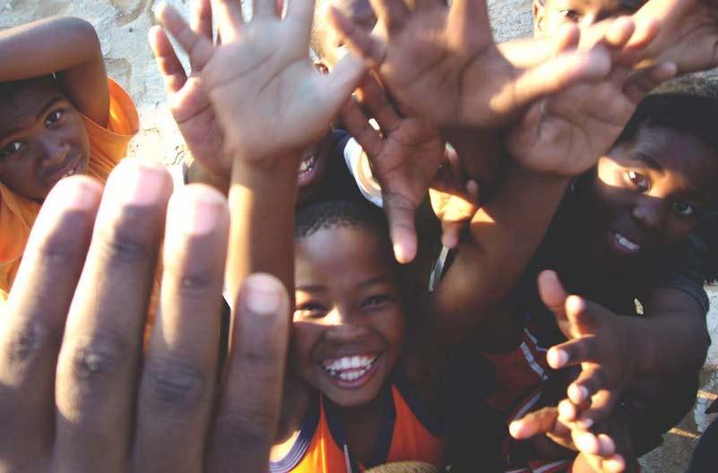 Black children's happy faces