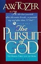 "Book cover for ""The Pursuit of God"""