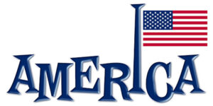 America and flag for July 4