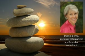 Cairn and photo of Debbie Bowie