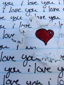 Handwritten note, torn