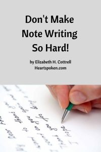 Note writing is not hard