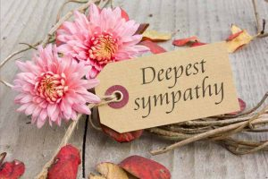 Deepest sympathy card with flowers