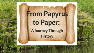 post title on scroll with papyrus in background