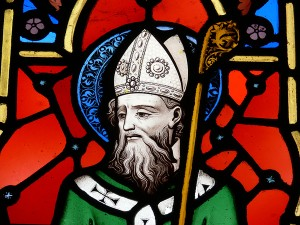 St. Patrick stained glass by Martin Mullen