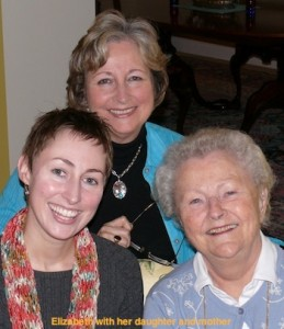 Elizabeth with her mother and daughter