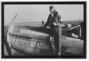 "Jim Herbert with his P-51 the ""Paper Doll."""