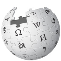 Wikipedia's logo of globe as jigsaw puzzle pieces fitting together