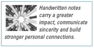 Handwritten notes: The pen is mightier than the send