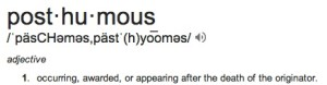 "Definition of word ""posthumous"""