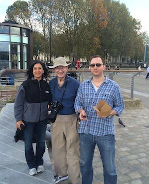 Ayiesha, John, Austin at the Royal Observatory in Greenwich