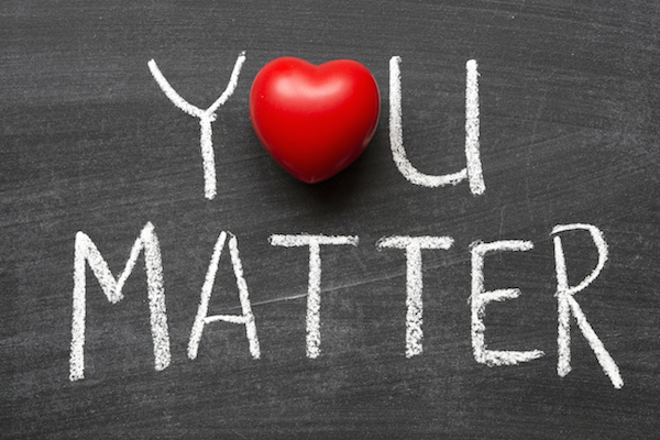 "Letters spell ""You Matter"""