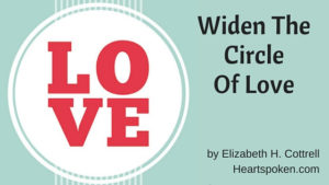 The word Love in a circle plus post title