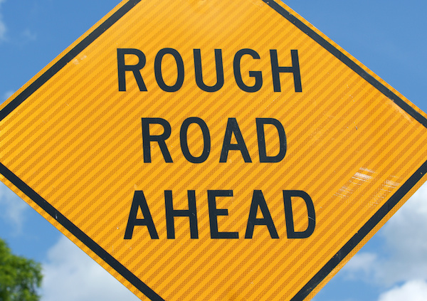 Sign: Rough Road Ahead