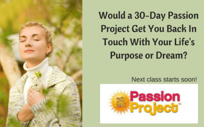 Would A 30-Day Passion Project Get You Back In Touch With Your Life