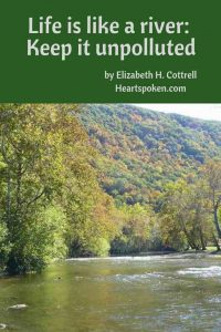 Life is like a river: keep it unpolluted #Shenandoah River #Shenandoah Valley #river