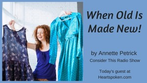 Woman with new clothes: old made new