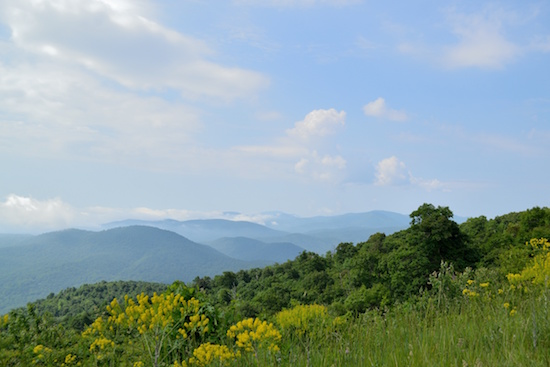 Mountains viewed from Shenandoah National Park
