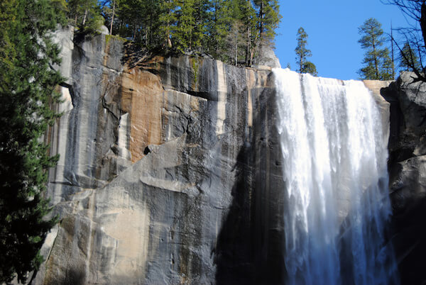 Vernal Waterfall at Yosemite National Park, Northern California