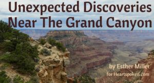 Grand Canyon vista with blog title