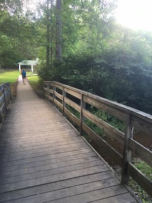 Boardwalk around lake at Shrine Mont