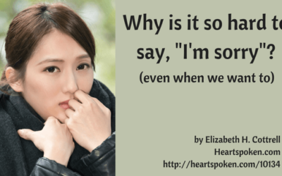 """Why Is It So Hard To Say """"I'm sorry"""" (even when you want to)?"""