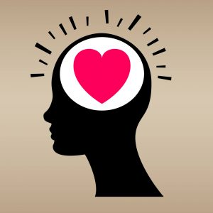 icon of head showing heart in place of brain