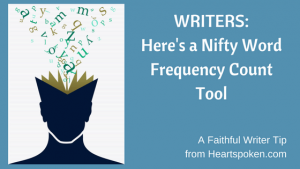 Writers: A Nifty Word Frequency Count Tool