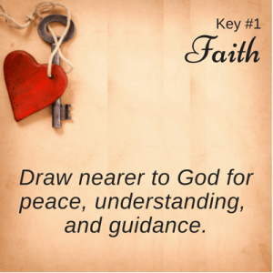 Key #1 with heart: Faith