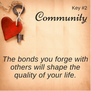 Key #2 with heart: Community