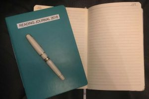 Journal book and fountain pen