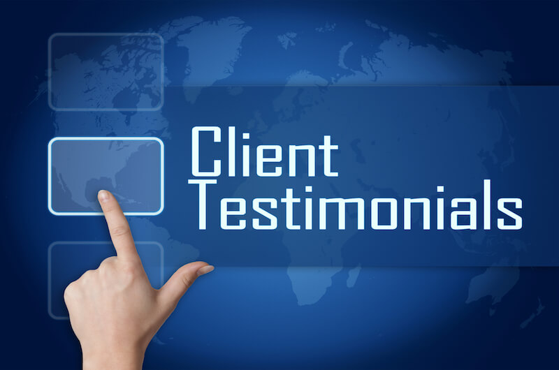 Client Testimonial Sign