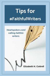 Tips for #FaithfulWriters for Pinterest