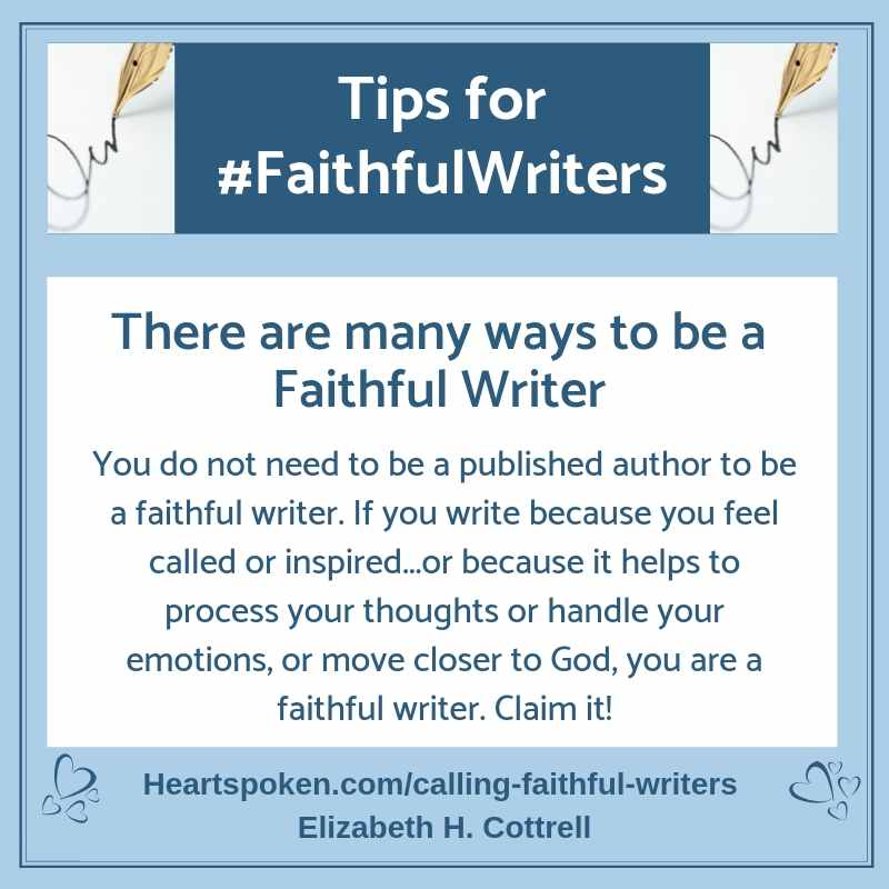 Tips for Faithful Writers