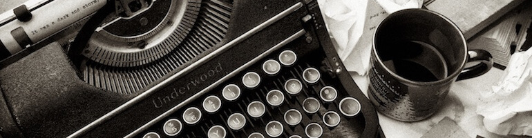 Writing: typewriter