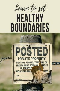 Let's talk about setting boundaries. Boundaries are not the same as walls, but they still protect us. Healthy boundaries are critical in all our relationships. We must establish them, respect them, and not let others overstep them. Henry Cloud has researched and analyzed our need for personal and professional boundaries. His book CHANGES THAT HEAL is an outstanding primer for why and how we need to understand the importance of boundaries.