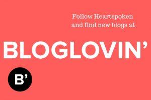 Follow Heartspoken on Bloglovin'