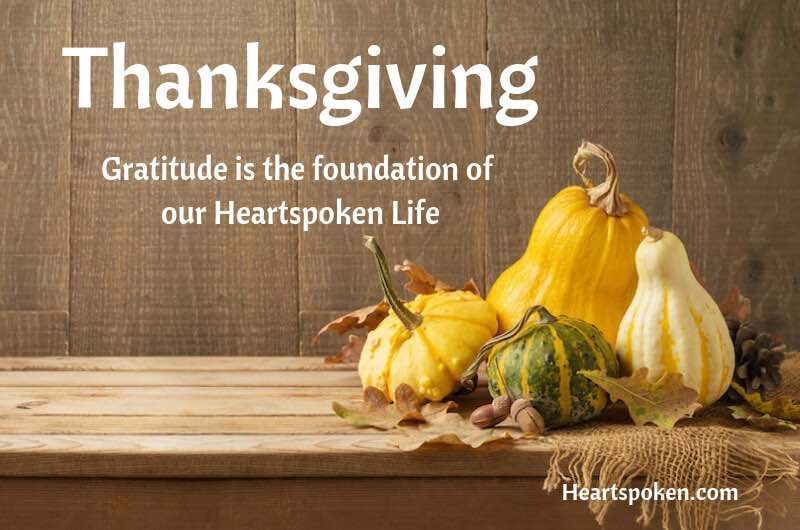 Gratitude and Thanksgiving with autumn gourds and pumpkins