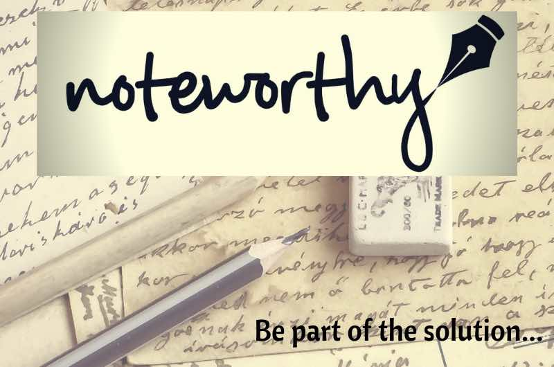 noteworthy handwritten notes