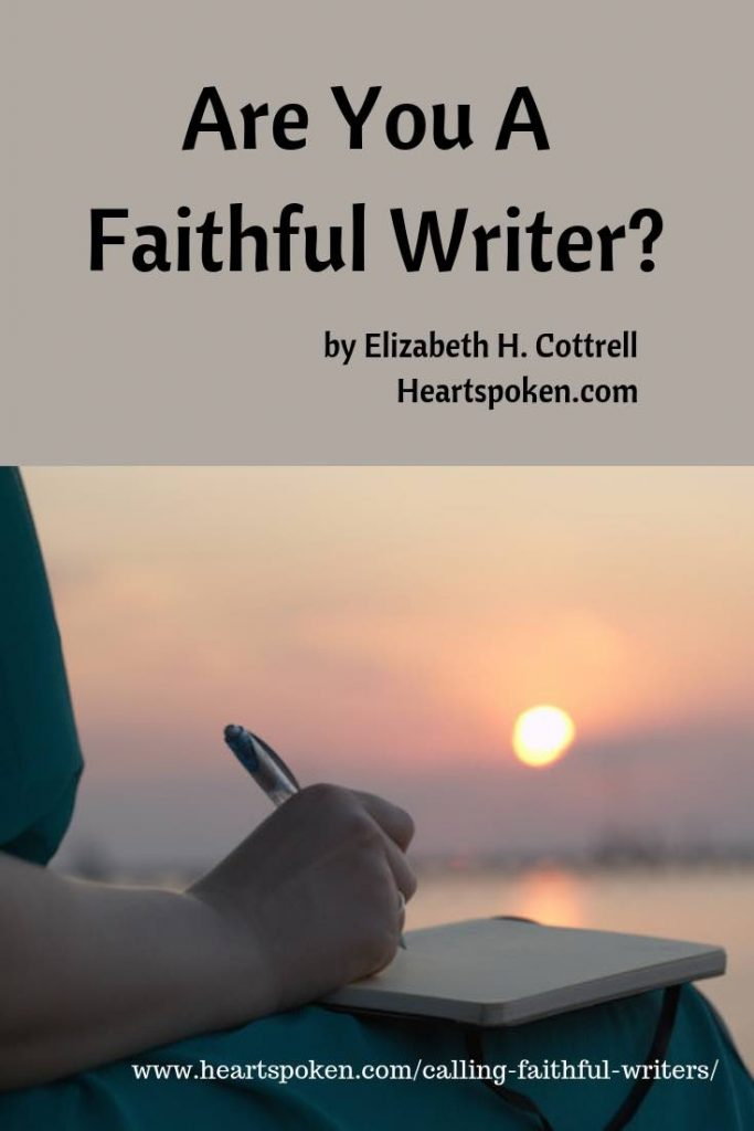 faithful writer, spiritual journal, writing to God