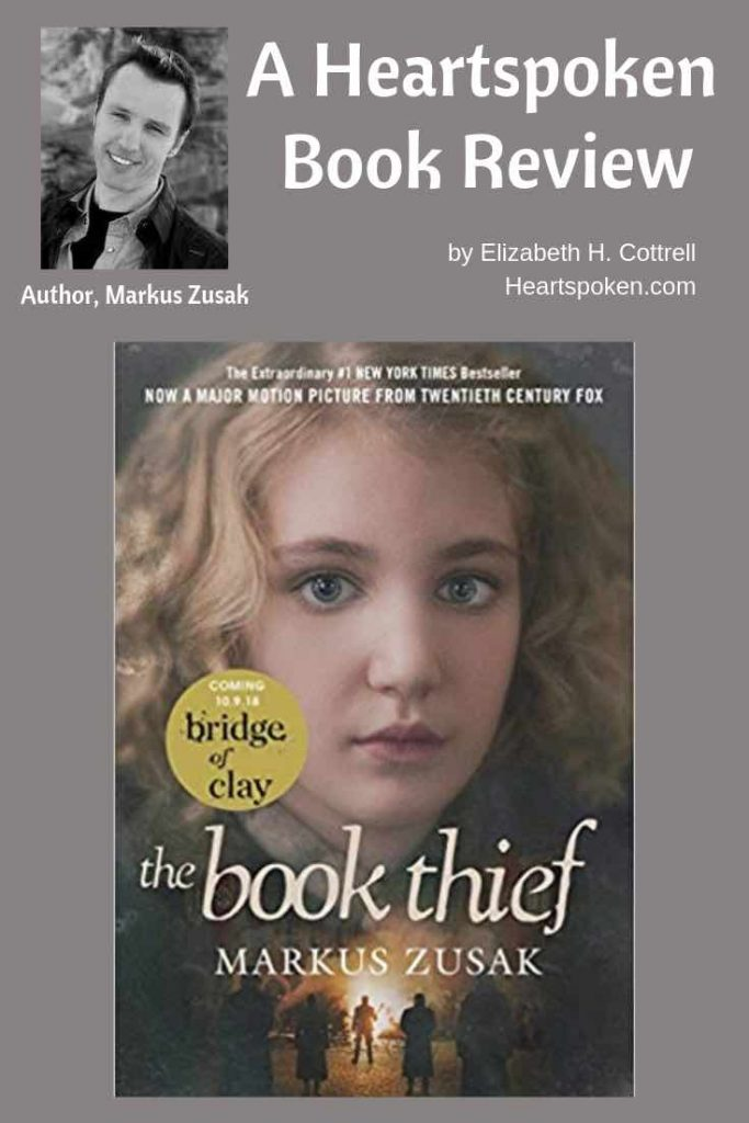 book review of The Book Thief by Mark Zusak - book cover and author headshot