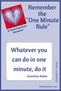 Heartspoken Moment - One Minute Rule