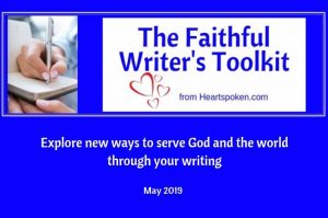 May 2019 Faithful Writers Tookit blog graphic