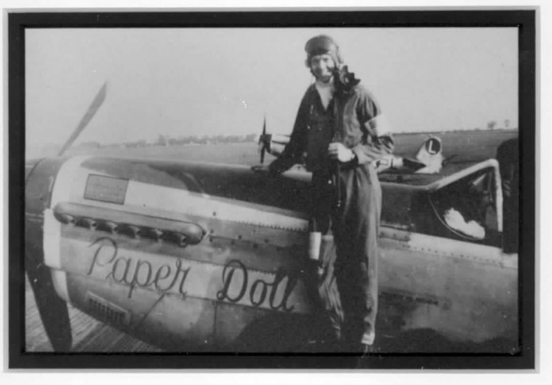 Maj. Jim Herbert with his WWII P-51