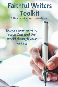 Faithful Writers Toolkit Newsletter for Pinterest