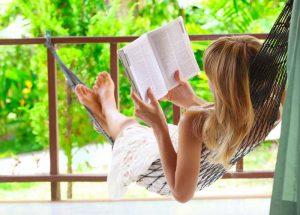Summer Reading: Woman Reading in Hammock