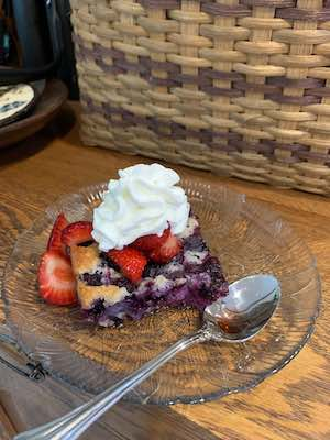 Blueberry Cobbler - red, white and blue