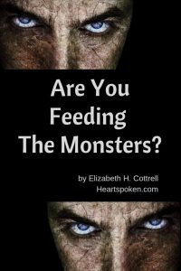 Are You Feeding the Monsters? Pinterest post